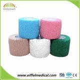 Échantillon gratuit coton pansement de gaze élastique confortable cohésive