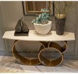 대리석 형이상학 테이블 스테인리스 커피용 탁자