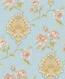 Profundidade de PVC em Relevo floral de flores de papel de parede de Luxo