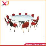 Banchetto rotondo di cerimonia nuziale del ristorante dell'hotel che pranza la Tabella del PVC