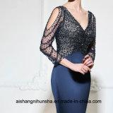 V платье вечера Mermaid шеи длиннее