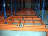 Kundenspezifische Stahlbewegliche drücken für Lager-Speicher zurück stark beanspruchen