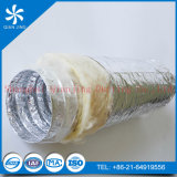 El aislamiento de aluminio metalizado conducto flexible con fibra de vidrio de aislamiento