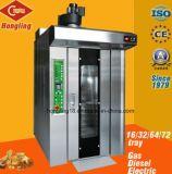 Horno rotatorio diesel comercial del estante del equipo 16-Tray de la cocina para la hornada