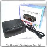Bc-01 Alto-falante Bluetooth com leitor de MP3, rádio FM de chamadas viva-voz integrado no relógio do alarme