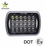 Super brillante LED Auto Faros Angel Eyes DRL 48W 6500K resistente al agua IP68 Jeep 4X4 Coches camiones Offroad 5X7, faros LED