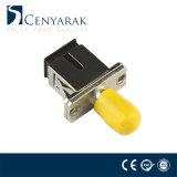 Sc ao adaptador híbrido da fibra óptica do metal do St
