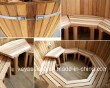 Tina caliente de madera del BALNEARIO del cedro caliente asombroso del Jacuzzi para la familia