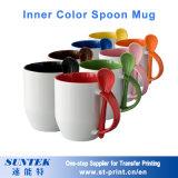 taza de cerámica de la magia de la taza de la porcelana de la taza del color del espacio en blanco de la sublimación 11oz