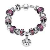 El redondo de cristal del regalo promocional rebordea la joyería ajustable de la pulsera