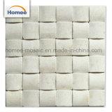 mattonelle beige crema italiane poco costose del marmo della pavimentazione del mosaico quadrato 3D di 48X48mm