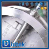 El acero inoxidable CF8 de Didtek API 6D Dn350 se dobla válvula de verificación de la oblea de la placa