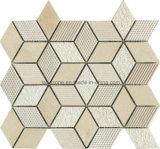 Het Natuurlijke Marmeren Mozaïek van de ruit met Verschillende Oppervlakte