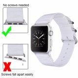 Tecidos da Nato quente cinta de vigilância de nylon para Apple assista, faixa de relógio para Iwatch ajustável