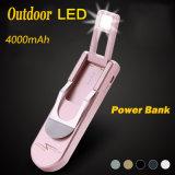 Batería móvil portable delgada Emergency de la potencia del recorrido con la luz del LED