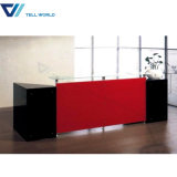 Blanc et rouge 2 personne à l'acrylique Boutique de meubles modernes Stadning réception incurvé