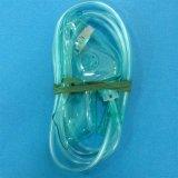 Masque à oxygène médical remplaçable approuvé de PVC de Ce/ISO avec le tube pour différentes tailles