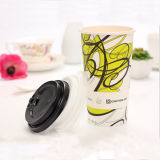 Diseño de papel de un sólo recinto inferior de la tapa de la taza de café de la alta calidad 6oz del beneficio para beber
