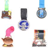 Le métal or Médaille Sports marathon en 3D
