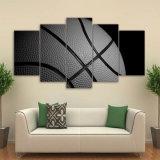 HD напечатало 5 изображений стены плаката гимнастики баскетбола искусствоа холстины части обрамленных картиной для живущий комнаты самомоднейшей