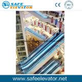 Escalera móvil estable de interior del alto ángulo
