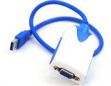 USB van uitstekende kwaliteit 3.0 aan VGA de Kabel van de Convertor van de Adapter