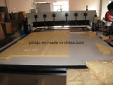 A máquina de estaca do teste padrão de pano de livro da amostra da tela com PLC controlou