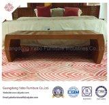 Commerical Hotel-Möbel mit Teakholz-Bett-Prüftisch (YB-O-25)