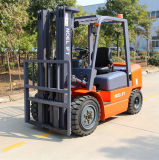 新しい3トン3000kgのTriplexマストの側面シフトIsuzuエンジンのディーゼルフォークリフト
