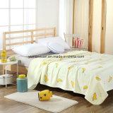 Trapunta lavorata a maglia 100%Cotton della tessile per colore giallo di estate
