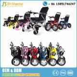Il potere pieghevole di alluminio resistente della sedia a rotelle elettrica ha azionato