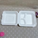 Одна отсека Tableware 3 пользы времени коробка обеда Biodegradable устранимая