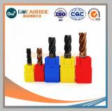 Haute précision des outils de découpe CNC carbure brasée fin Mill, l'extrémité en carbure monobloc Mills