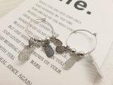 Фрукты Ананас серебристый цвет и имитация формы окружности Earring