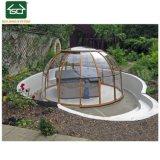 Enceinte de piscine spa escamotable avec châssis en aluminium