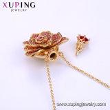 Necklace-00651 fertigen billig einfache Art-Form-Schmucksache-Goldüberzogenes Kupferlegierung-Ketten-Halskette kundenspezifisch an