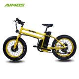 ذكيّة 20 بوصة سمين إطار العجلة ثلج درّاجة كهربائيّة مع أماميّة/محرّك خلفيّة