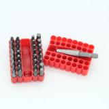 Il bit di cacciavite dell'acciaio di vanadio del bicromato di potassio delle 33 parti ha impostato con il caso di plastica di memoria
