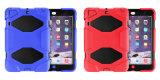 3 en 1 la pleine protection silicone+couvercle de protection du PC tablette en plastique de cas pour l'iPad Mini