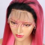 Virgem de cabelo humano 1bpink rendas de cabelo peruca para Mulheres