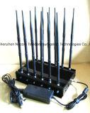 De krachtige Handbediende GPS WiFi/4G Stoorzender van de Telefoon van de Cel, GSM van de Desktop, CDMA 3G, 4G Cellphone, Blocker /Jammer van de UHF-radio van VHF