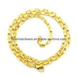Acero inoxidable chapado en oro de Venecia COLLAR DE CADENA