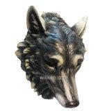 Decoración casera de plata del colgante de pared de la pista del lobo