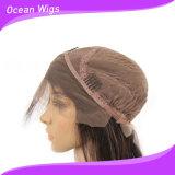 """Горячая Продажа 100% волос человека естественный цвет 10"""" прямой кружева Wig передней панели"""