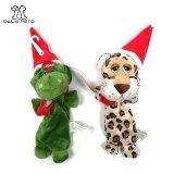 크리스마스 애완 동물 견면 벨벳 장난감 개 고양이 삐걱거리는 장난감