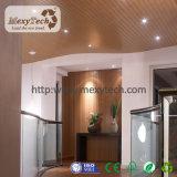 Techo de la azotea de la fábrica WPC del cantón de Foshan para el proyecto interior del techo