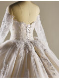 с плеча 3 метра мантии венчания кристаллический шарика Sequin шнурка Bridal