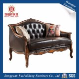 N311 Ruifuxiang Meubles de salle de séjour canapé en cuir avec châssis de bouleau