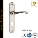 Het Handvat van het Aluminium van de Vervaardiging van de Hardware van de Deur van Wenzhou met de Plaat van het Ijzer