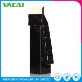 Assoalho-Tipo de papel por atacado carrinho da exposição do indicador da jóia da cremalheira